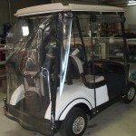 Golf buggy clears