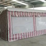 Vinyl stripe walls
