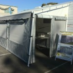 Roll out caravan annexe