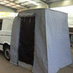 Camper van rear tents