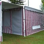 Vinyl striped walls