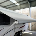 Caravan roll-out awning